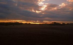 Picture The sun, Sunrise, Autumn, Cold, Pripada