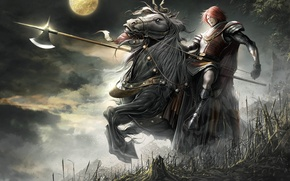 Wallpaper the moon, horse, knight, The Cross Rancor, Lineage