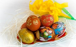 Picture holiday, eggs, Easter, socket, painted eggs
