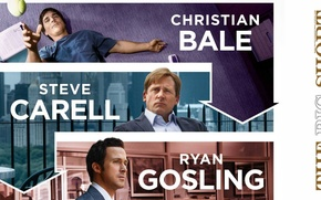 Picture Christian Bale, Steve Carell, Rayn Gosling, The Big Short, Shorting