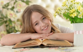 Picture Book, Smile, Children, Face, Hair, Girl, Rus