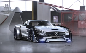 Picture Mercedes-Benz, AMG, Tuning, Future, Sci-Fi, by Khyzyl Saleem