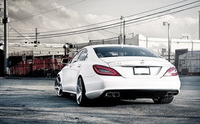 Picture Mercedes-Benz, AMG, White, CLS63, CLS Class