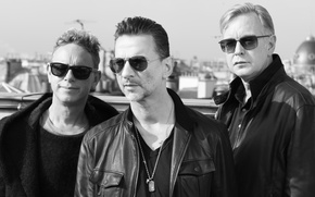 Picture Depeche Mode, Martin Gore, David Gahan, Andrew Fletcher, Delta Machine