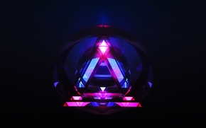 Picture abstraction, background, triangle, hq Wallpapers