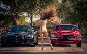Picture girl, machine, Need for Speed, start, Kristina Yakimova