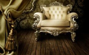 Picture style, chair, Retro, gardina