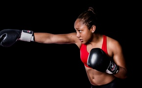 Picture girl, training, Thai Boxing