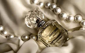 Picture perfume, necklace, fabric, bottle