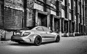 Picture grey, tuning, mercedes, 2012, Mercedes, benz, amg, benzo, AMG, Black Series, C63