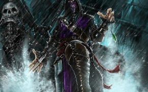 Picture look, weapons, the game, mask, art, hood, Mortal Kombat, Rain, character