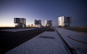 Picture platform, Observatory, Chile, after sunset, Paranal Observatory