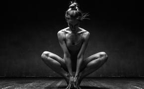 Wallpaper rhythm, pose, music, Ballerina