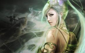 Picture girl, warrior, art, girl, beautiful