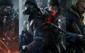 Picture look, weapons, watch, mask, tattoo, soldiers, agent, Ubisoft, fighters, Tom Clancys The Division, Division