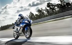 Wallpaper markup, road, motorcycle, speed, yamaha