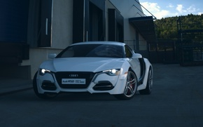 Picture Concept, Audi, Car, Auto, Front, White, Ligth, RSD