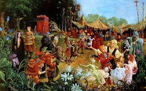 Picture flowers, glade, tale, picture, circus, fantasy, lrs Christensen