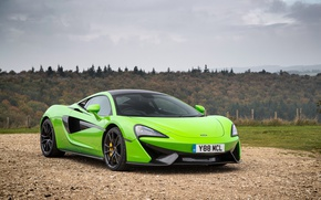 Picture McLaren, Car, Coupe, Green, 570S, 2015-16
