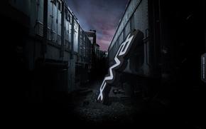 Wallpaper sign, The darkness, locomotive