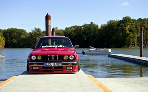 Picture BMW, red, front, E30, 325es