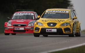 Picture fight, Lada, Lada, Priora, Leon, Seat, WTCC, The world championship in the class touring car …