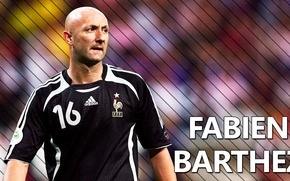 Picture bald, the French goalkeeper, Fabien Barthez
