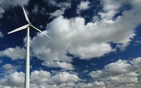 Wallpaper the sky, light, windmill