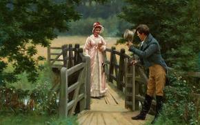 Picture girl, love, picture, garden, girl, love, garden, picture, romanticism, English painter, English artist, the pre-Raphaelite, …