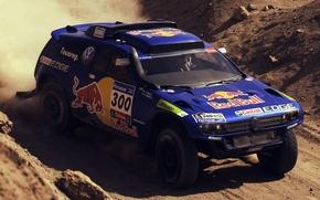 Picture Blue, Volkswagen, Red Bull, Touareg, Dakar