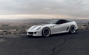 Picture Ferrari, White, Ferrari, Fiorano, GTB, 599, Supercar, Before, White, Supercar