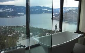 Picture glass, design, house, style, room, Villa, interior, bathroom