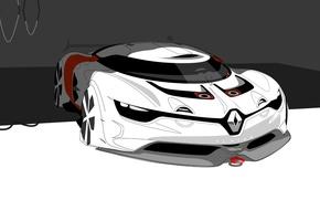 Picture Concept, art, Renault, Reno, art, the front, sketch, rendering, Alpine, Alpine, A110-50