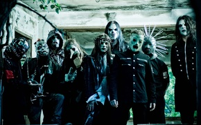 Wallpaper metal, group, slipknot, slipnot