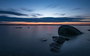 Picture sea, dawn, Sweden, Sweden, Easter Gotland, Djuro Kvarn