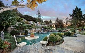 Picture nature, photo, landscape, pool, CA, USA, the bushes, San Juan Capistrano
