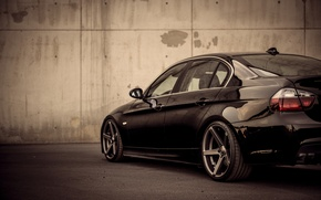 Picture macro, photo, wall, black, tuning, bmw, BMW, supercar, drives