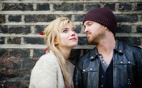 Picture the film, Aaron Paul, Imogen Poots, A Long Way Down, long fall