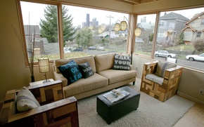 Picture style, interior, house, living room, the city, cottage, design