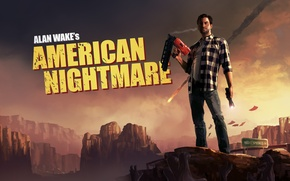 Wallpaper mountains, monsters, writer, alan wake, american nightmare, Alan Wake
