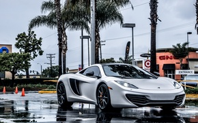 Picture McLaren, Supercar, MP4-12C, Rain, Supercar