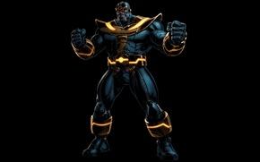 Picture background, black, Comics, Thanos