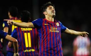 Picture David Villa, Goal, FC Barcelona, The celebration