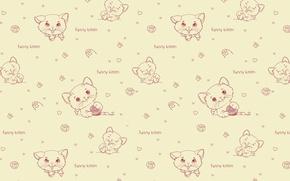 Picture background, texture, art, kitty, children's