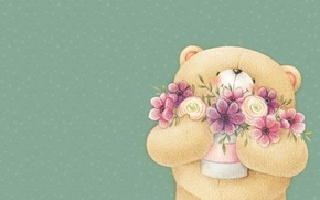 Picture smile, mood, art, bear, a bunch, children's, Forever Friends Deckchair bear