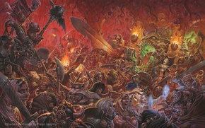 Picture soldiers, battle, Fantasy, Warhammer, demons, heretics, Empire, Battles, negitivly