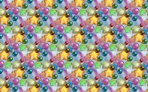 Picture background, holiday, texture, New year, stars, Christmas balls