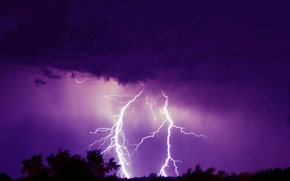 Picture light, night, The storm
