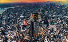 Picture New York, the evening, USA, Manhattan