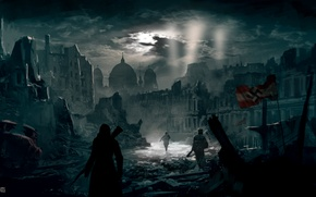 Picture night, the city, Berlin, assassin, Assassin's Creed Berlin WW2